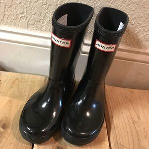 Hunter kids rain boots size 9